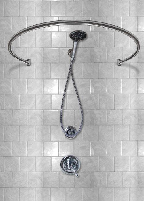 34 wall mounted circular shower rod