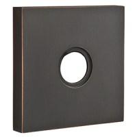 2801 - Modern Brass - Towel Ring - Square Rosette - Oil ...