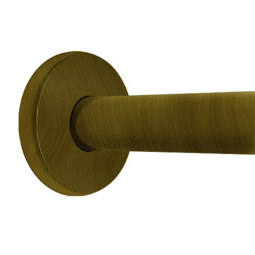 36 shower rod contemporary antique brass
