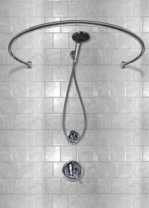 34 Wall Mount Circular Shower Curtain Rod