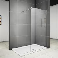 90 x 185 cm Walk in Dusche Duschabtrennung Duschwand Glas ...