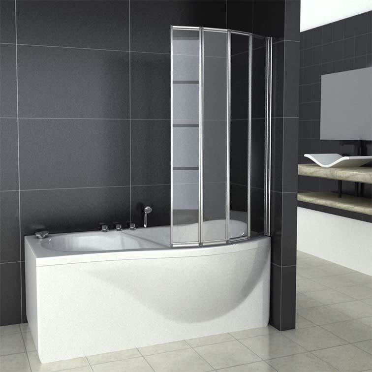 4 Folds and 5 Folds Folding Bath Shower Screen Bathroom Glass Door Panel 1400mm  eBay