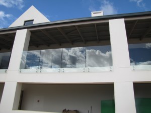 Glass balustrades frameless