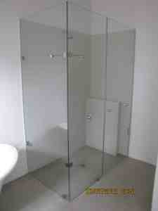 Glass shower enclosure 3 piece