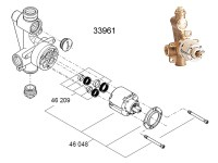 Shower spares for Grohe manual shower valve | Grohe 33961 ...