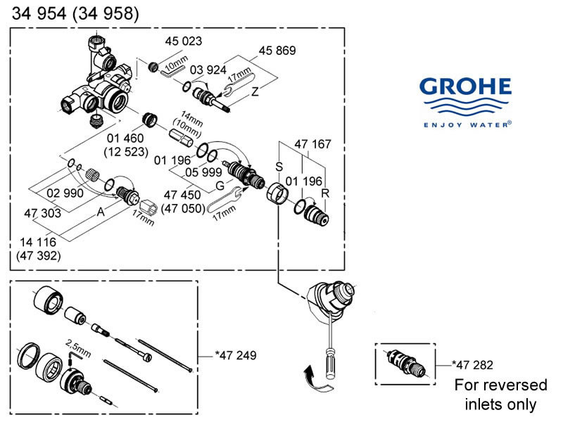 Grohe Shower Head Spare Parts