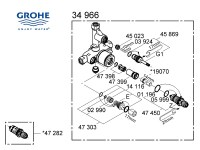 Grohe mixer valve - 34966 000 shower spares and parts ...