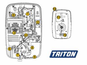 Shower spares for Triton Opal 3 | Triton Opal 3 | National Shower Spares