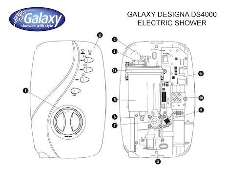 ELECTRIC SHOWER: GALAXY AQUA 4000SI ELECTRIC SHOWER