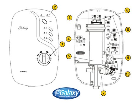 ELECTRIC SHOWER: GALAXY AQUA 4000 ELECTRIC SHOWER