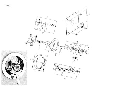 Grohe Euromix Manual Shower Valve shower spares and parts