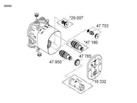 Grohe thermostatic 3/4