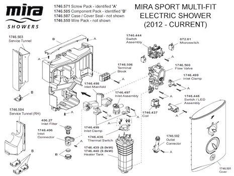 Mira inlet clamp bracket assembly (1746.435) Mira Sport