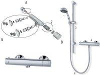 Shower spares for MX Atmos Sigma thermostatic bar mixer ...