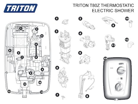 T100xr Electric Shower White, T100xr, Free Engine Image