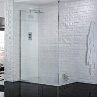 Aquadart Wetroom 1000mm Safety Glass Shower Panel