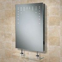 HIB Rain Illuminated LED Mirror with shaver socket