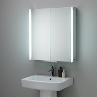 HIB Xenon 80 LED Aluminium Illuminated Bathroom Cabinet ...