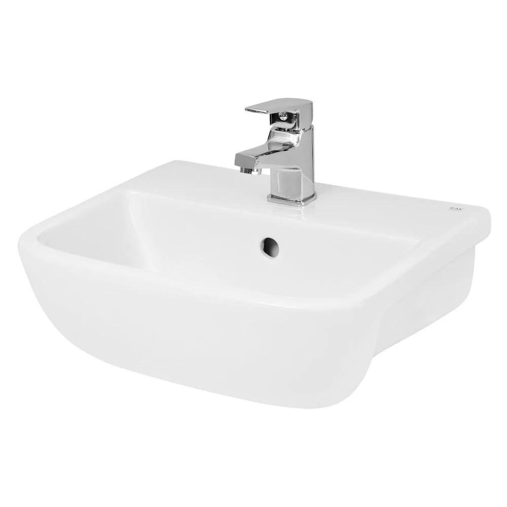 hudson reed 420mm aria semi recessed basin white