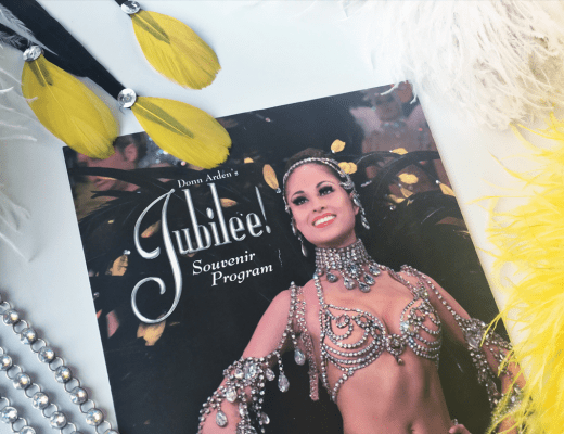 showgirls life jubilee souvenir program mock up