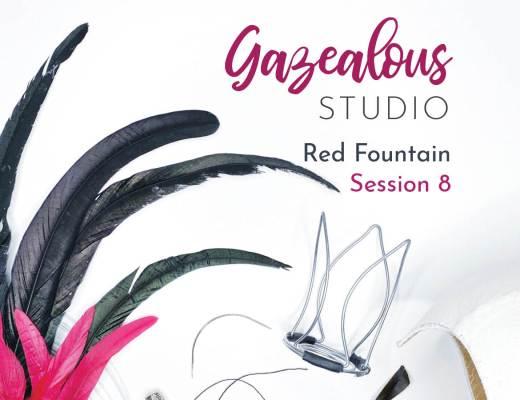 Showgirls Life | Gazealous Studio Red Fountain Showgirl hat making replay Session 8