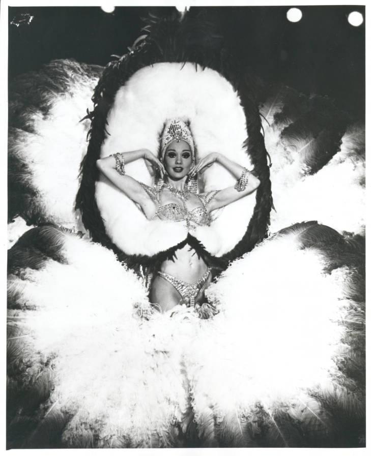 Las Vegas Showgirl in costume