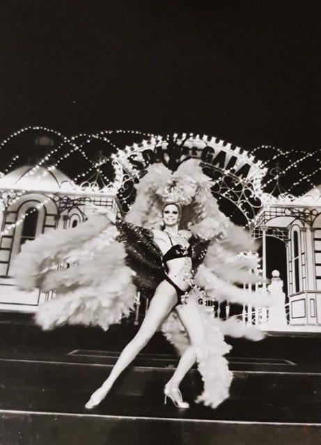 showgirl in costume