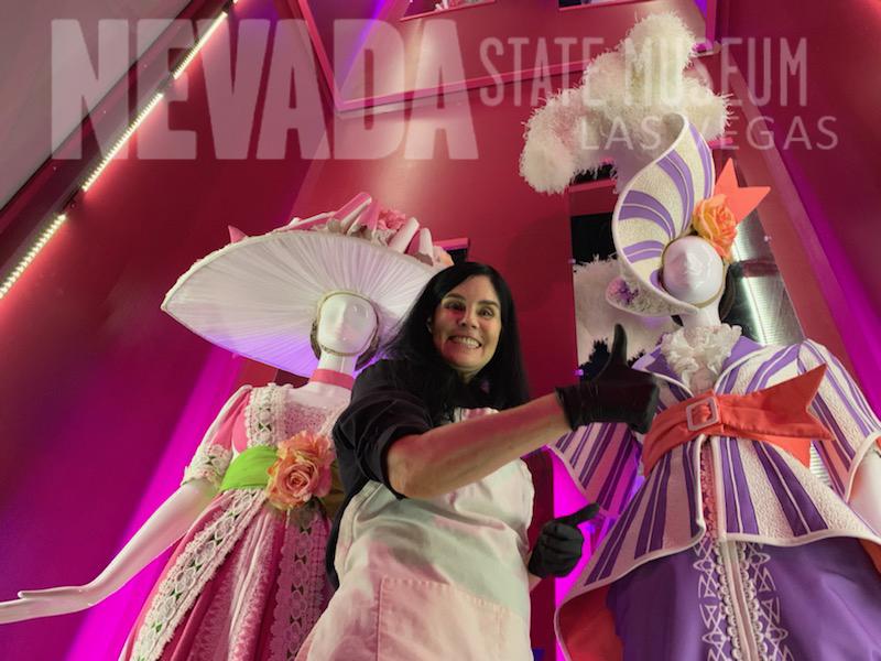 Las Vegas Showgirl costume designed by Pete Menefee archival by Nevada State Museum Las Vegas
