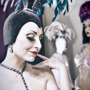 SHOWGIRL'S LIFE | Blue Fountain costume designed by Athena Patacsil
