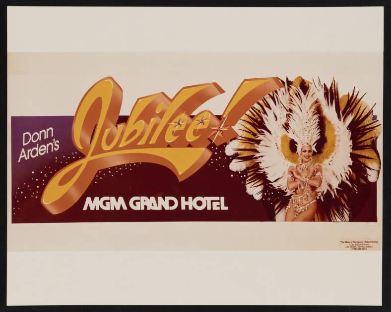 Donn Arden's Jubilee! MGM Grand Las Vegas 1981 opening billboard