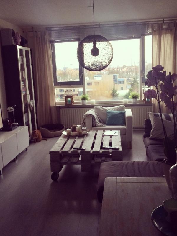 Landelijke huiskamer met scandinavische look  Interieur