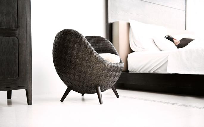 Comfortabele stoel van rattan  Inspiraties  ShowHomenl