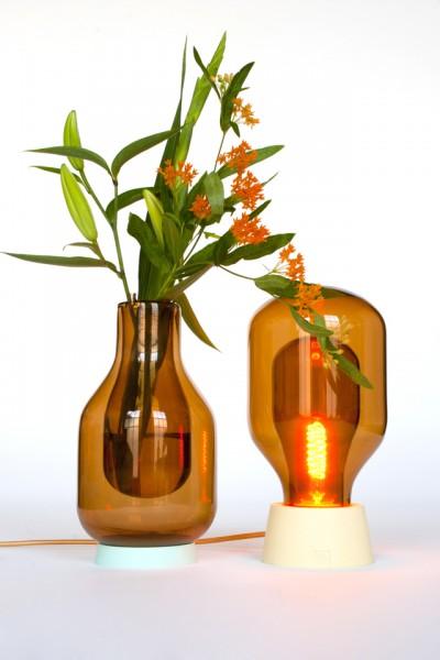 Glazen lamp en vaas  Inspiraties  ShowHomenl
