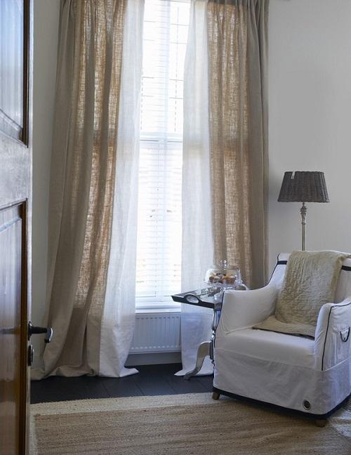 Slaapkamer Met Gordijn