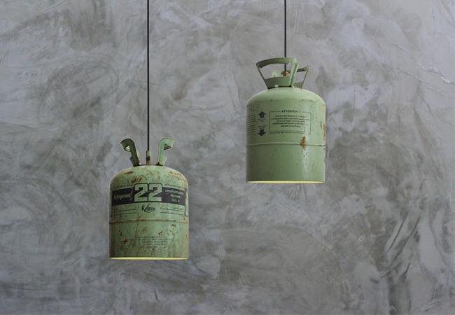 Stoere lamp van hergebruikte materialen  Inspiraties