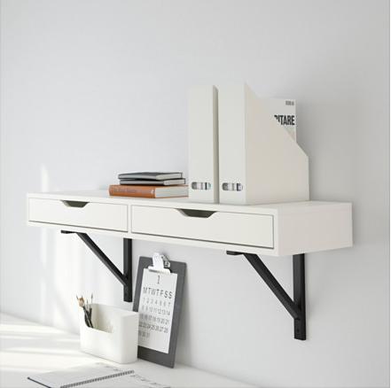 6 x een tafel of bureau aan de muur  Inspiraties