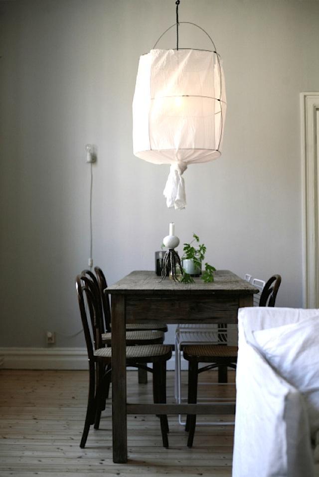 Zelf een hanglamp met stoffen kap maken  Inspiraties