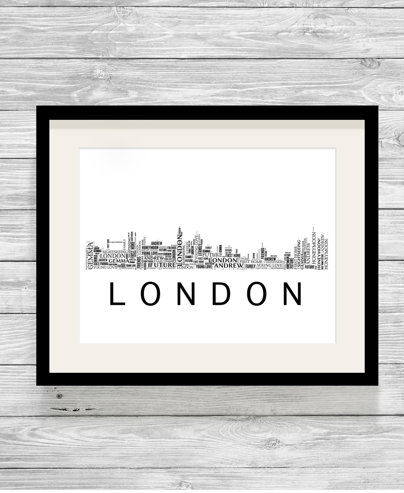 Personalised London Skyline Word Art Print Show It With