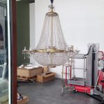 Embalaje, carga y descarga de lamparas