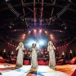 una atmósfera maravillosa de un concierto