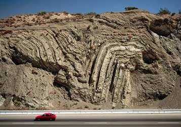 Earthquake fold in Calif.