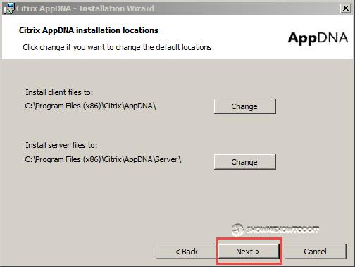 AppDNA 7 Installation Locations