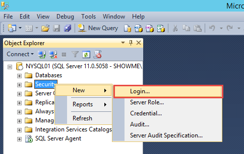 New SQL Account