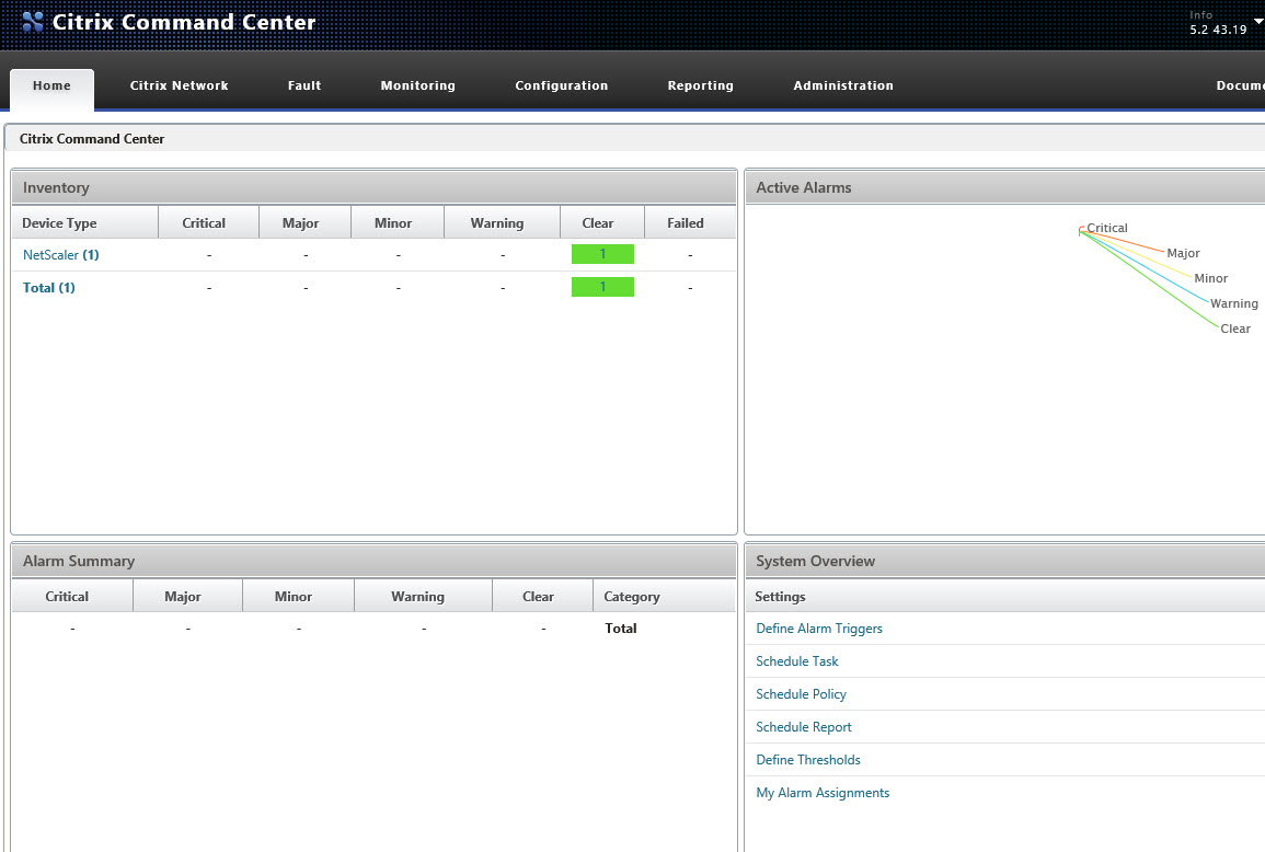 Citrix Command Center Overview