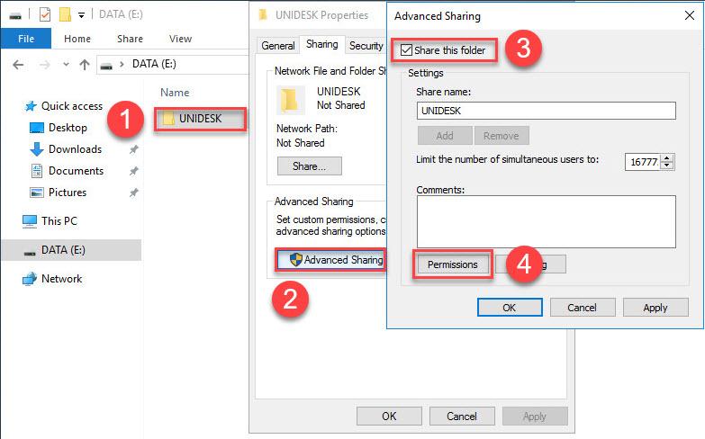 Unidesk File Share Configuration