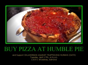 OATH Fundraiser at Humble Pie This Tuesday!