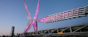 Skydance Bridge Now Lights up the Nighttime Crosstown Drive
