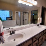 Double-vanities in master bathroom