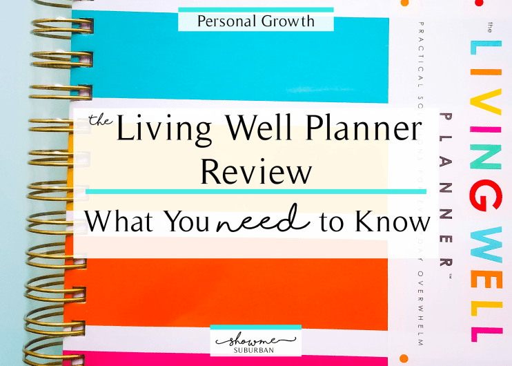 Whether you're working on New Year's resolutions or just want to be more organized, this Living Well Planner review will help you decide if this planner is right for you. Check out the in-depth overview of goal setting, budgeting, meal planning, calendar pages, and more! #planner #organized