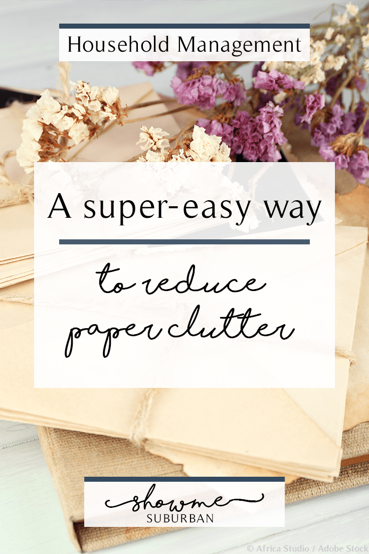 ShowMe Suburban | A Super Easy Way to Reduce Paper Clutter